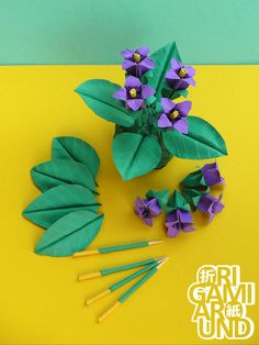 origami violet work in progress and finished... - Origami Around