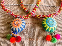 Hmong Sun Patch Work Pendant with Embroidery by CHEZMOIMYHOME