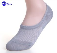 1 Pairs Mens Silica gel stealth socks shallow mouth Secret Footsies Socks New