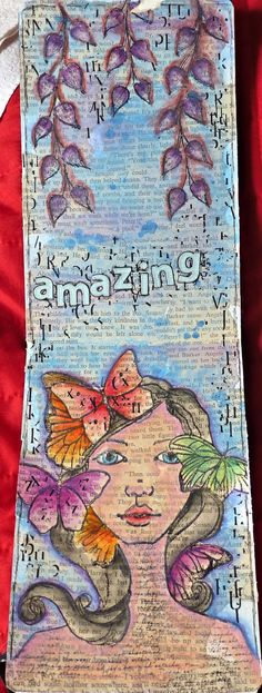 Art journal with stamps and neocolor II
