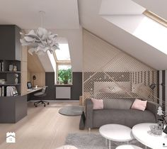 Teenage room / girl& room on Behance Attic Bedroom Designs, Attic Rooms, Bedroom Loft, Room Decor Bedroom, Bedroom Ideas, Teenage Room, Loft Design, Design Girl, Design Design