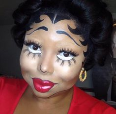 Betty Boop makeup