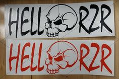 Hell RZR Vinyl Decal 4 x 12 by DandDVinylCreations on Etsy