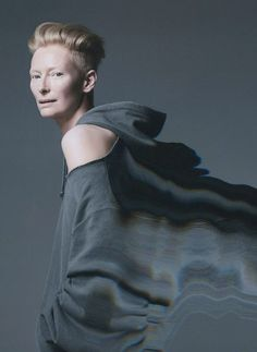 London-based photographer Sølve Sundsbø was commissioned by OUT Magazine to create glitched session of beyond-obvious actress Tilda Swinton Tilda Swinton, Womens Fashion Uk, Fashion Art, Fashion Shoot, Color Photography, Fashion Photography, Portrait Photography, Tv Movie, Out Magazine