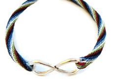 Kumihimo Braided Bracelet with Infinity Knot Charm and Magnetic Clasp
