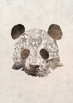 Pirates Office  Panda Bear Illustration