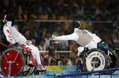Wheelchair fencing. So awesome!!!