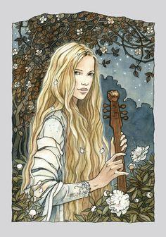 Princess by ~liga-marta at deviantart  // redesign for her sketch of Idril