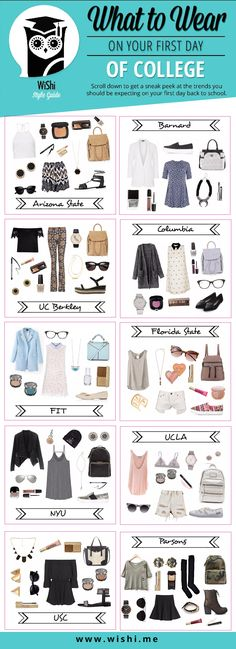 Get back to school cool this year with these amazing outfits for your first day of college! #backtoschoolstyle