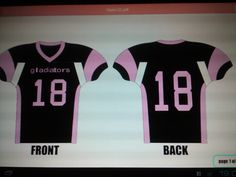 Home jersey for the Lancaster Gladiators (women's full contact football) looking for more players please contact owner/founder at donmega600@yahoo.com if you want to play.