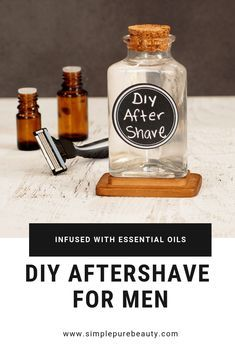This DIY aftershave recipe for men is seriously so simple! Stop buying the aftershave at the store, and give this homemade aftershave recipe a try instead. It's simple, natural and will leave your man's face smelling amazing and not dried out! Essential Oil For Men, Oils For Men, Patchouli Essential Oil, Essential Oil Blends, Homemade Face Masks, Homemade Skin Care, Diy Skin Care, Homemade Moisturizer, Homemade Facials