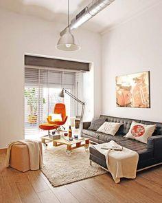 Petit appartement avec une décoration industrielle à Barcelone