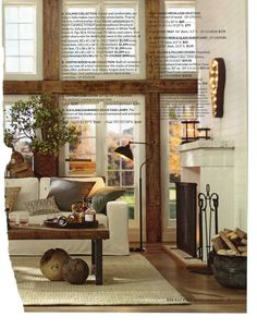 simple fireplace From Pottery Barn Simple Fireplace, Pottery Barn, Oversized Mirror, Entryway Tables, Divider, Room, Inspiration, Furniture, Design