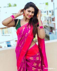 Gorgeous Shivani Narayanan in Silk Saree Beautiful Girl Photo, Beautiful Girl Indian, Beautiful Saree, Beautiful Indian Actress, Beautiful Models, Beautiful Women, Beauty Full Girl, Beauty Women, Beauty Girls