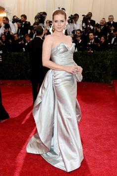 Amy Adams in Oscar de la Renta at the Met Gala  www.SupernovaAccessories.com The Home of Limited Edition Fashion Accessories