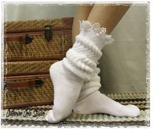 CUDDLE BUNNY in White lace socks super thick slouch socks womens socks work out socks boot cuff socks ladies lace hosiery Catherine Cole SW1 by LaceBootSocksbyCCole on Etsy https://www.etsy.com/listing/96205018/cuddle-bunny-in-white-lace-socks-super