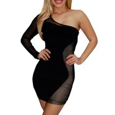 Daring mesh inset dress - whoa!