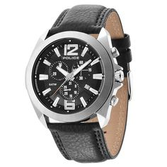 Black Watch. The Police Lifestyle. Available from Identity The Jewellers at our POLICE Lifestyle Kiosk in Intu Derby Centre, online at http://www.identityonline.biz/product/POLICE-POLICE-Watches-POLICE-Leather-Watches-Black-Chronograph-Ranger-II-14104JS02-POLICE-Watch/20078