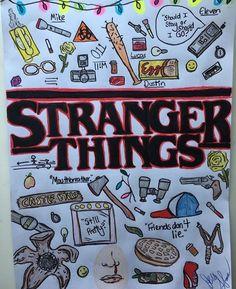 Dibujo de stranger things❤ - New Ideas Stranger Things Tumblr, Stranger Things Season 3, Stranger Things Aesthetic, Eleven Stranger Things, Stranger Things Netflix, Stranger Things Stuff, Starnger Things, Bullet Journal Ideas Pages, Aesthetic Black
