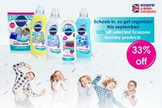 🇬🇧 Visit us at www.ecozonedirect.com for the latest in back to school laundry detergent offers at 33% off! 🇬🇧 School uniforms, p.e kits, bed linens, towels... Go green with your loads, save energy, money and the environment!  #makeyourhomeanecozone #ecozoneproducts #backtoschool #greenbusinesses