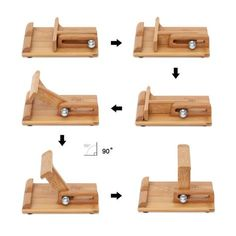 Bamboo Adjustable Cell Phone Smartphone Stand Holder - Iphone Holder - Ideas of Iphone Holder - Bamboo Adjustable Cell Phone Smartphone Stand Holder Desk Phone Holder, Iphone Holder, Iphone Stand, Cell Phone Stand, Iphone Phone, Woodworking Toys, Woodworking Supplies, Woodworking Projects, Woodworking Patterns