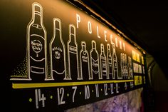"Chalk markers menu for ""Dom Kultury"" club, Lublin, Poland."