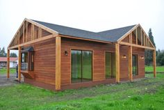 Bungalow, One Storey House, Wooden House, Exterior, Ideas Para, Shed, Outdoor Structures, Cabin, Design