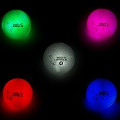 #NightEagle #LightUp #LED #Golfbälle von #PremierGlow. Vom #GolfDigest als eines der besten neuen Produkte der #PGA Merchandise Show 2016 ausgezeichnet. Maximaler #Gaudifaktor beim #Nachtgolfen, bzw. #Golfen bei schlechter Sicht. Ideal für´s #golfen bei schlechter Sicht. Zeitlich unbegrenzte Aktivierung durch Handylicht. Farben Blau, Rot, Weiß, Grün und Pink. #golf #golfball #golfing #golfer #golfporn #golfgeschenk #geschenkidee #pgatour #lpga #brightgolfball