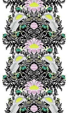 Laululintu Fabric – Vallila Online Store Flock Of Birds, Summer Sale, Flocking, Animal Drawings, Pastel, Flowers, Fabric, Plants, Beautiful