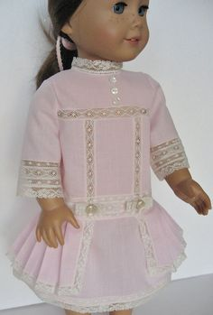Pink Heirloom Dress for American Girl Rebecca or by MyAuntGinny