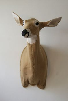 Oh Deer Life size shoulder mount Felt Doe  soooo beautiful!