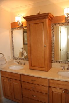 Custom Bathroom Vanities Ri koch classic cabinetry, charleston door style, mocha finish on