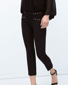 SKINNY TROUSERS WITH EYELETS - View all - Trousers - WOMAN | ZARA United States
