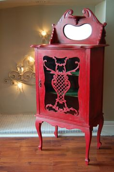 Vintage Music Cabinet re loved in Annie Sloan, Emperors Silk... - stunning on an ornate piece of furniture like this