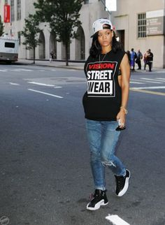RiRi knows how to rock street style like no one else <3