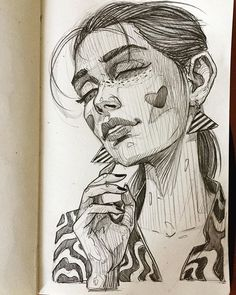 She's amazing! __ and I love this sketch, it's soo different from other drawings you can usially find on Pinterest. I mean the type of sketching... the way this artist draws, each line is so distinctive that you can immediately know...