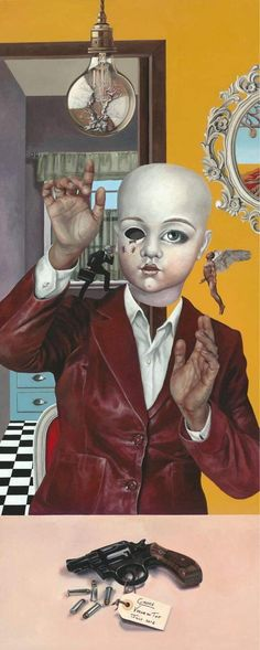 """My Oil painting titled """"Choice"""". For more information or to order a reproduction please visit my website or email me at vernadutoitart@gmail. #art #oilpainting #surrealisticart #contemporaryart #vernadutoit #popsurrealism Pop Surrealism, Oil Paintings, Contemporary Art, Website, Fictional Characters, Oil On Canvas, Fantasy Characters, Modern Art, Contemporary Artwork"""