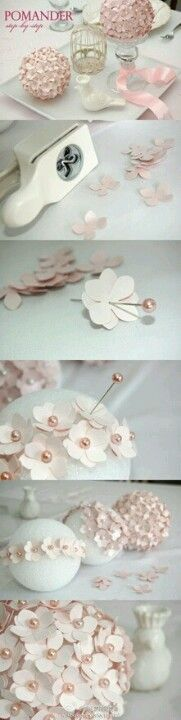 Could make cute wedding decor. I would rather ivory pearls with purple flowers