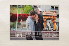 Silver Screen Save the Date Postcards by Jennifer Wick at minted.com