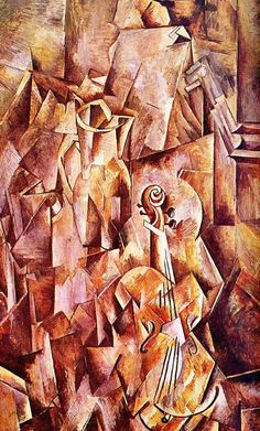 Violin and jug, 1910 - Georges Braque - WikiArt.org