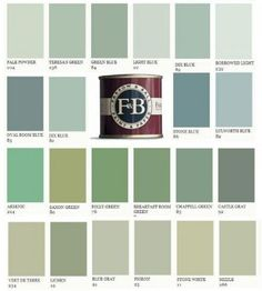 Paint Color Inspiration From Plain English Kitchen Designs Blue Green Paints, Green Paint Colors, Room Colors, Wall Colors, House Colors, Plain English Kitchen, English Kitchens, Farrow And Ball Paint, Farrow Ball