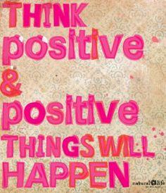 Y nuestro #momentopositivo del día es pensar siempre que todo va a salir bien, porque así saldrá bien!