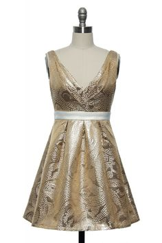 Dipped in Champagne Shimmer Dress | Vintage, Retro, Indie Style Dresses