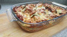 Lasagne light, met spinazie en bolognese saus