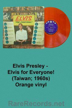 Elvis Presley - Elvis for Everyone! This 1965 LP received an unauthorized release on Taiwan, and some copies, such as this one, were pressed on colored vinyl. #records #albums #vinyl #coloredvinyl
