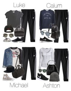"""""""5SOS Styles: adidas 3 Stripes Pants"""" by fivesecondsofinspiration ❤ liked on Polyvore featuring adidas, The Great, Ralph Lauren, Alexander Wang, The Row, Project Social T, Vintage, H&M, Converse and NIKE"""