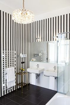 Live in the The Austrian fashion maker Lena Hoschek designed a suite at the Hotel Altstadt Vienna with striped wallpapers, flowered c. Design Hotel, Vienna Hotel, Fashion Maker, Das Hotel, Striped Wallpaper, Boutique, Modern Architecture, Room, Furniture