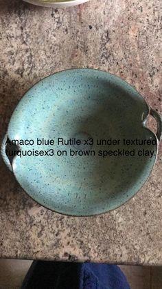 Glazing Techniques, Ceramic Techniques, Pottery Techniques, Glazes For Pottery, Pottery Bowls, Ceramic Pottery, Clay Plates, Ceramic Glaze Recipes, Amaco Glazes