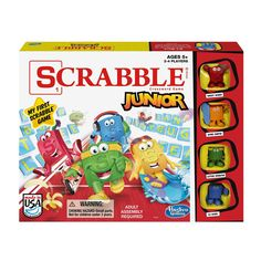 Scrabble Junior Game by Hasbro, Multicolor