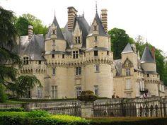 Chateau d'Usse - Touraine Loire Valley - France - also known as the Sleeping Beauty Castle or en francais - La Belle au Bois Dormant. Vila Medieval, Chateau Medieval, Medieval Castle, Oh The Places You'll Go, Places To Travel, Places To Visit, Beautiful Castles, Beautiful Places, Loire Valley France